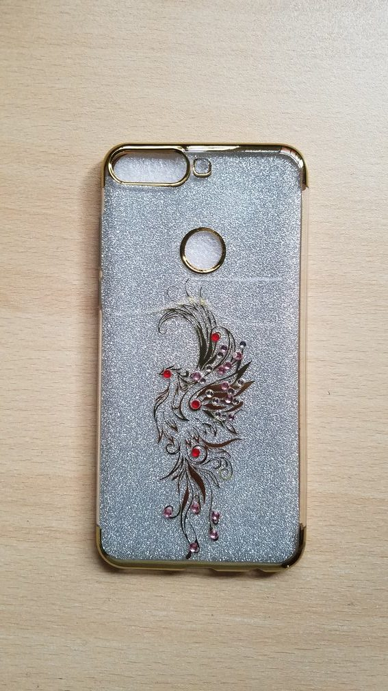 save off 64637 3e3ff Huawei Y7 Prime 2018 Fancy back cover jewelled